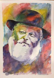 Le Rabbi aux couleurs de l'arc en ciel - 1 200 Shekels